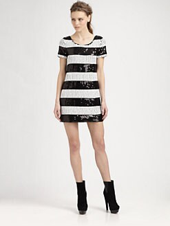Rachel Zoe - Karolina Striped Sequin Dress