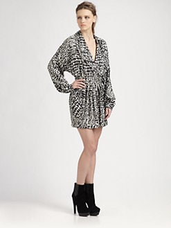 Rachel Zoe - Cole Shawl-Collar Dress