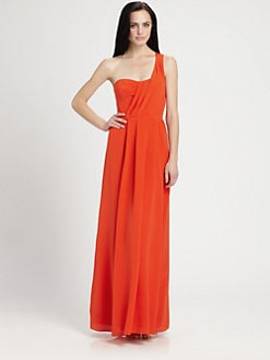 Rebecca Taylor - One Shoulder Silk Maxi Dress