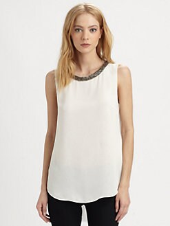 Rebecca Taylor - Beaded Silk Top