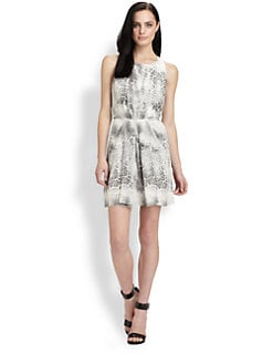 Rebecca Taylor - Silk Animal Print Dress