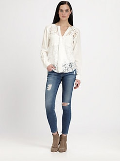 Rebecca Taylor - Silk Lace Blouse