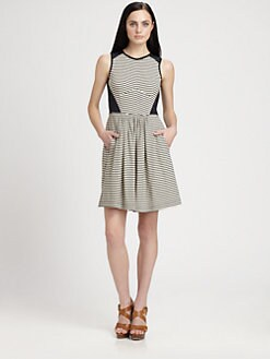 Rebecca Taylor - Striped Jersey Dress