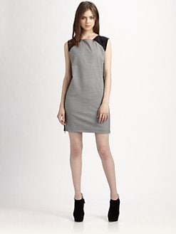 Robert Rodriguez - Colorblock Zip Shift Dress