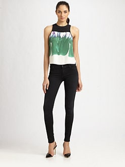 Tibi - Hudson Printed Silk Top