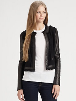 Rebecca Taylor - Tweed & Leather Jacket