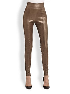 Robert Rodriguez - Leather High-Waist Leggings