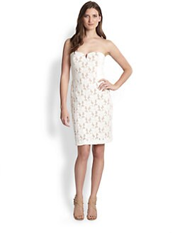 Rebecca Taylor - Strapless Lace Dress