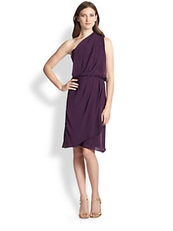 Rebecca Taylor - Draped One-Shoulder Chiffon Dress