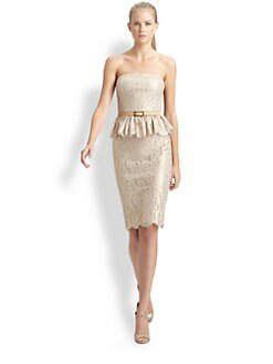 Robert Rodriguez - Strapless Lace Dress