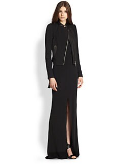 Rachel Zoe - Freda Leather & Twill Jacket