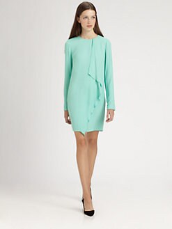 Tibi - Crepe Draped Dress