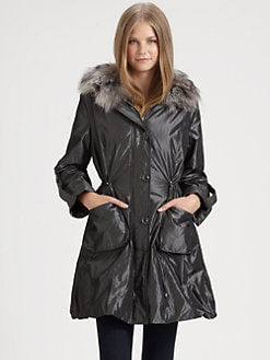 Royal Underground - Fur-Trimmed Nylon Parka