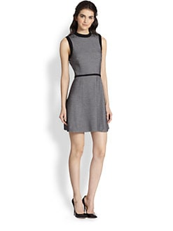 Tibi - Honeycomb-Textured Stretch Cotton-Blend Dress