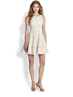 Tibi - Lace Fit-And-Flare Dress