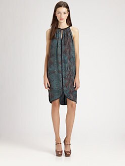 Rebecca Taylor - Python Silk Halter Dress