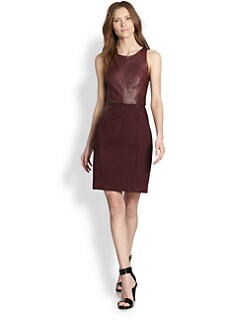 Sachin + Babi - Leather & Stretch Cotton Dress
