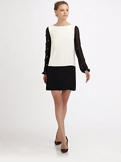 Tibi - Serafina Silk Shift Dress