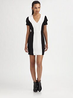 Rebecca Minkoff - Katya Silk V-Neck Dress