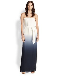 Haute Hippie - Silk Strapless Ombre Maxi Dress