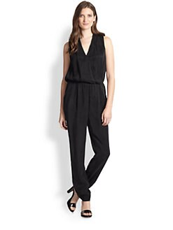 Rebecca Taylor - Silk Draped Split-Back Jumpsuit
