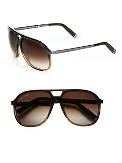 DSQUARED - Navigator Plastic Sunglasses/Bronze