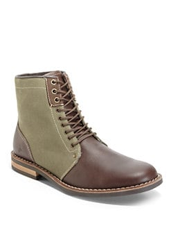 Penguin - Jerry Jeff Leather & Canvas Boots