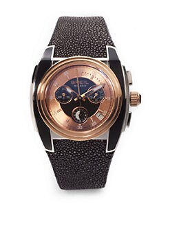 Breil - Mediterraneo Chrono Black Accents Stingray Watch