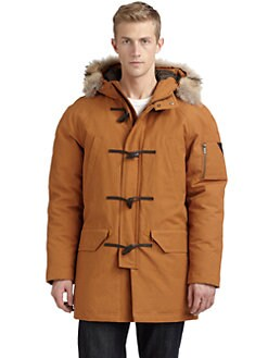 Rainforest - Coyote Fur-Trim Water-Resistant Parka