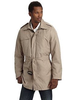 Tumi - Poly Fall Belted Trenchcoat