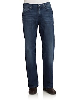 7 For All Mankind - Relaxed Straight-Leg Jeans