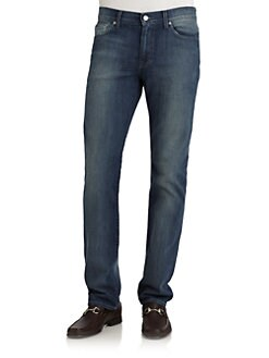 7 For All Mankind - Slimmy Straight-Leg Jeans/Sea Mist