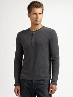 Elizabeth and James - Wool Henley Sweater