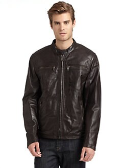 MARC NEW YORK by ANDREW MARC - Leather Zip Pocket Jacket