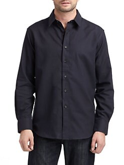 Robert Graham - Woven Cotton Broadcloth Button-Down Shirt