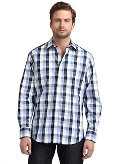 Robert Graham - Woven Cotton Plaid Button-Down Shirt