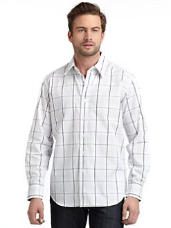 Robert Graham - Woven Cotton Checked Button-Down Shirt