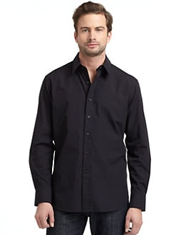 Robert Graham - Woven Cotton Diamond Button-Down Shirt