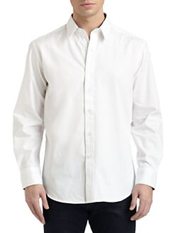 Robert Graham - Square Knot Woven Cotton Jacquard Button-Down Shirt