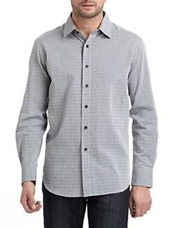 Robert Graham - Woven Cotton Tonal Check Button-Down Shirt