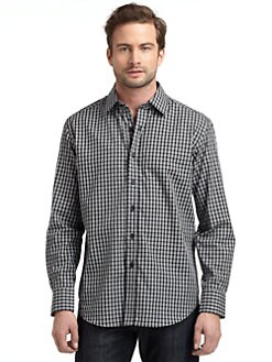 Robert Graham - Woven Cotton Houndstooth Check Button-Down Shirt