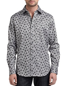 Robert Graham - Woven Cotton Floral Jacquard Button-Down Shirt