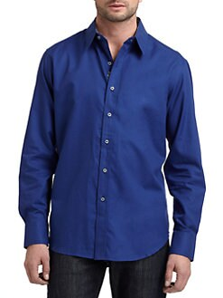 Robert Graham - Woven Cotton Dobby Button-Down Shirt