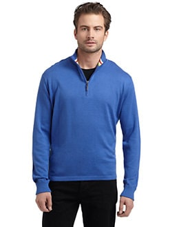 Robert Graham - Cotton Contrast Cuff Sweater