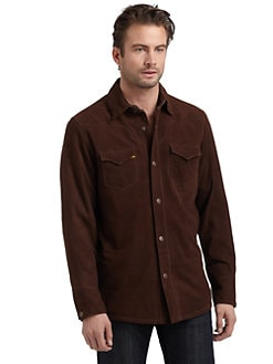 Robert Graham - Rockox Suede Button-Down Shirt
