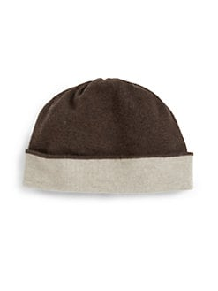 Portolano - Two-Tone Cuffed Knit Hat