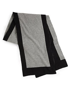 Portolano - Cashmere Contrast-Bordered Knit Scarf