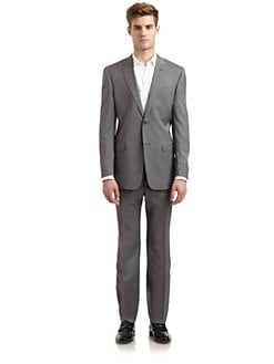 Valentino - Wool Pinstriped Two-Button Suit/Slim-Fit