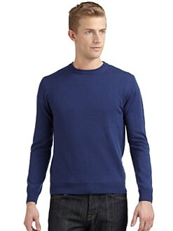 Calvin Klein Collection - Merino Wool Crewneck Sweater/Slim-Fit