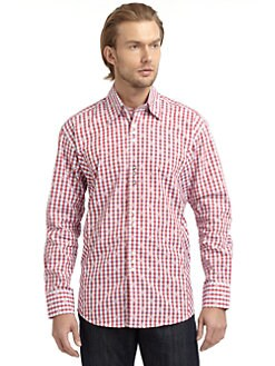 Bogosse - Novelty Button-Down Shirt/Red Plaid